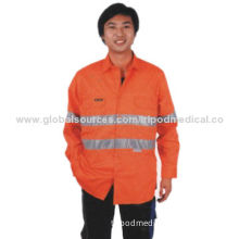 Hi-Vis Protection Reflective Safety Shirt, Long Sleeve