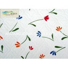 Bordados camurça impressa lig tecido para colchão