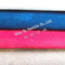 Polyester gaufré rideau de velours Suede / canapé tissu (G69-15)