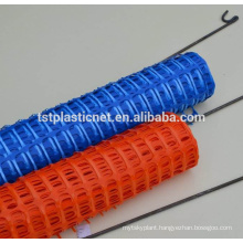 Blue Plastic Snow Fence In Roll