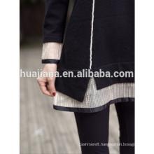 fashion Organza collar woman's cashmere knitting dress