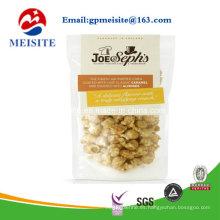 FDA calidad alimenticia de encargo sacos de embalaje Jerky de carne de vacuno con ventana