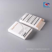 boîte d'emballage cosmétique blanche pliable faite sur commande de masque facial pour la dame