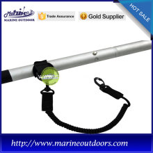 1.5m black paddle leash with plastic hook