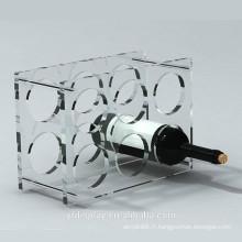 Support d'affichage de bouteille de vin acrylique transparent