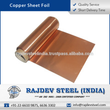 Standard Export Quality Copper Sheet Foil at Wholesale Rate