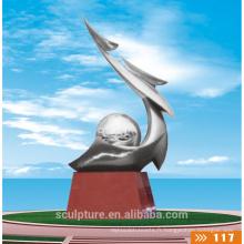 2016 Nouvelle sculpture Esprit moderne Haute qualité Mode Statue urbaine Sports Métal Paysage coloré Sculpture
