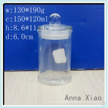 150ml Glass Candle Jars with Glass Lids on Sale