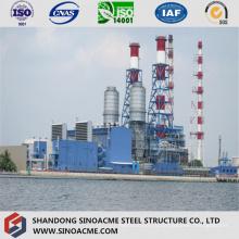 Стальная структура рамки основного цеха на электростанции