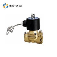 Válvula solenoide de latón de 2 vías de alta presión y alta temperatura