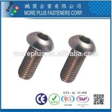 Feito em Taiwan Grau 10.9 Aço Carbono Hexagon Socket Button Head Cap Screw