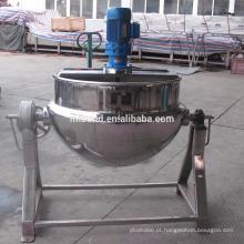 50L-500L Comercial Elétrica Steam Candy Molho De Chocolate De Aço Inoxidável Inclinando Dupla Camada De Cozinha Panela Com Agitador