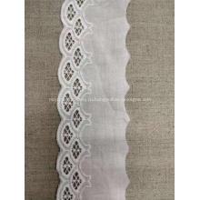 Тяжелая толстая жаккардовая ткань для вышивки Цветочное хлопковое кружево