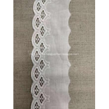 Tela de bordado grueso grueso tela de encaje de algodón flor