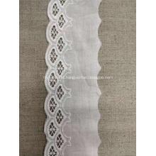 Laço de algodão denso pesado da flor da tela do bordado do jacquard