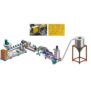 Plastic recycling pelletizing machine