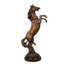 Animal Bronce Escultura Decoración caballo latón Estatua Tpy-368