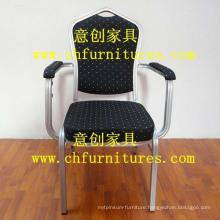 Black Fabric Armrest Chair (YC-D105)