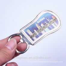 factory personalized Batumi souvenir stainless magnetic bottle opener for fridge