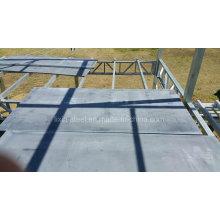 Asequible estructura de acero prefabricado casa de la familia con suelo de cartón de cemento