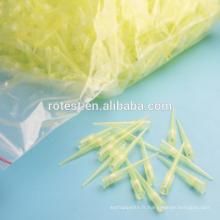 Embouts de pipette à filtre jaune 200 ul