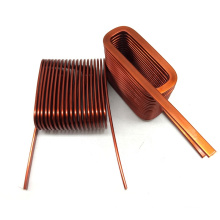 Flat Wire Helical Enameled copper Winding Coil for Inductor