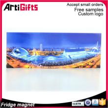 Customized design aluminum foil paper fridge magnet