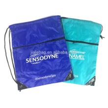 SMETA audit custom polyester backpack drawstring bag gym sack