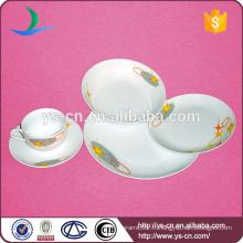 Ensemble de vaisselle d'hôtel en porcelaine avec design simple