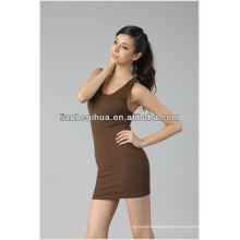 Vestido de partido europeo de la manera del estilo, barato que hace punto mujeres inconsútiles vestido de noche corto