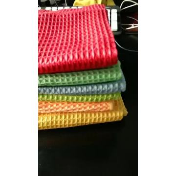 Waffle Soft Cloth Woven Fabric Tea Cleaning Cloth