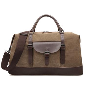 2021 Factory Wholesale Vintage Canvas Duffle Bag Custom Fashion Men Travel Large Weekend Bag