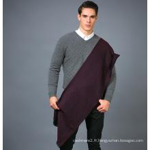 Écharpe en laine 100% pour homme en écharpe de laine colorée