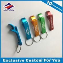 Llavero de metal personalizado abrebotellas con colores