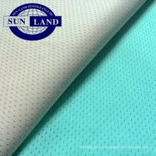 Tejido de malla antibacteriano de poliéster tejido ion ion fit fit para ropa interior