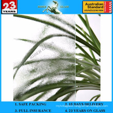 3-8mm Clear Chinchilla Patterned Figure Glass with AS/NZS 2208