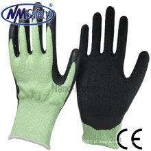 NMSAFETY Anti cut PU luvas de trabalho de nível 5 PPE luvas de segurança EN388 4543