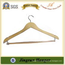 Nueva suspensión de ropa de madera de diseño con gancho de metal