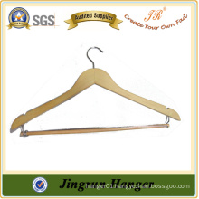 New Design Wooden Clothes Hanger with Metal Hook