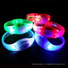 bracelet led activé par la musique