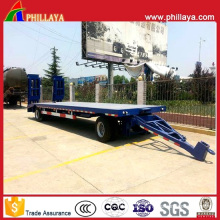 Full Drawbar Lowbed Towing Wholesale Trailer with Ladders