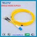LC-St Duplex Fibra Óptica Jumper, Jumper Cable