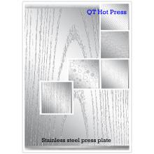 Placa de cromo para máquina de prensa caliente de ciclo corto / moldes de prensa para laminar