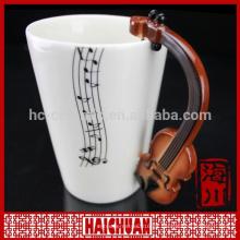 Taza de música de porcelana
