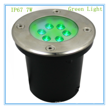 Alibaba expreso llevó luz inmóvil 7w ip67 impermeable fuente subterránea de luz verde subterráneo para hermosa scence