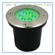 Alibaba экспресс светодиодов подземный свет IP67 водонепроницаемый 7 Вт светодиодные подземный свет зеленый источник для красивой сцене