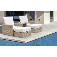 Patio Synthetic Outdoor Garden Wicker Rattan Sunlounge