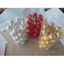 Set 36 boule de verre couleur unique pour Noël