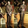 High Quality Brown Check Two-Row Buttons 2014 Wedding Suits For Men Fancy Business Men's Suits Unique Design NB0571