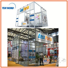 aluminum showcase exhibition booth fashion design display for trade fair